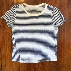 URBAN OUTFITTERS Striped Graphic T Shirt Basic S